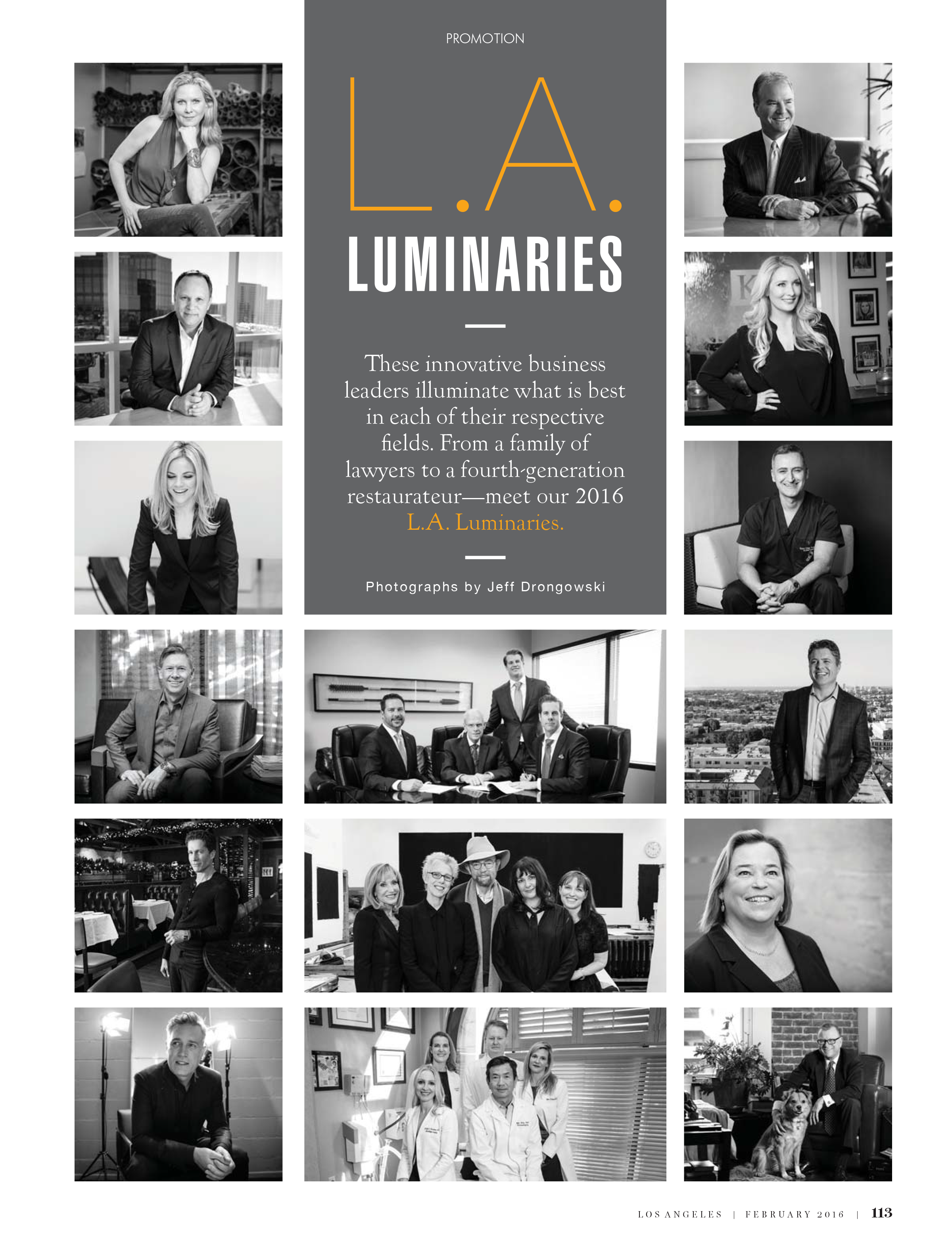 LA Luminaries Spread